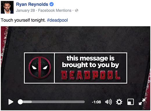Deadpool Facebook cancer video