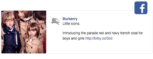 burberry facebook