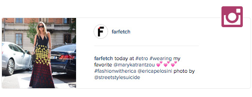 farfetch instagram