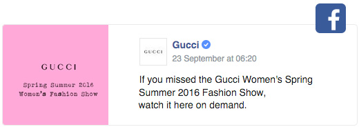 gucci facebook