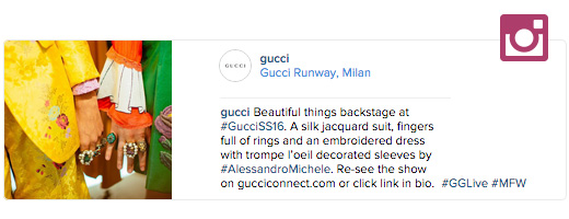 gucci instagram