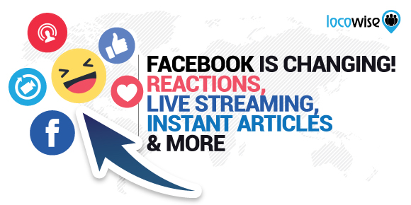 Facebook Is Changing! Reactions, Live Streaming And More