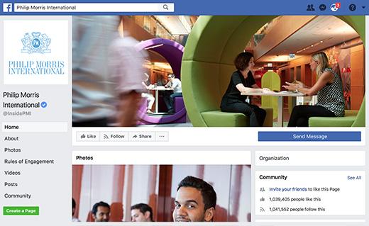 Philip Morris Facebook