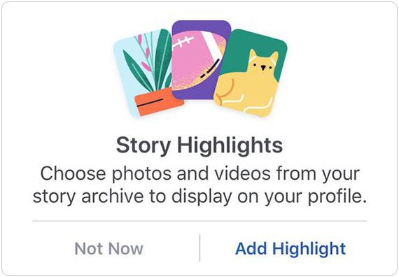 Facebook Story Highlights