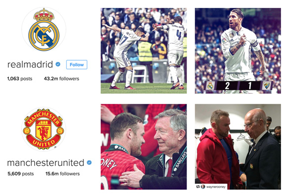 instagram manu and real madrid