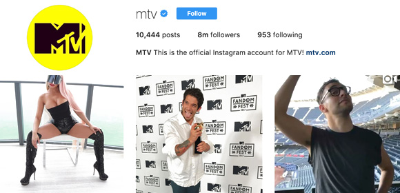 MTV Instagram