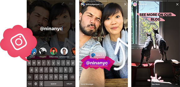 Instagram stories features