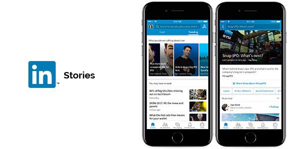 LinkedIn Stories Look