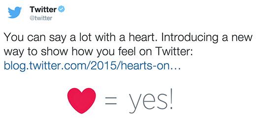 Twitter hearts release