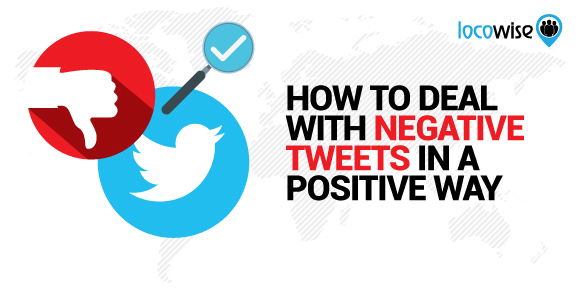 Deal with negative tweets