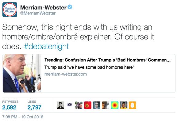 Merriam-Webster Trump